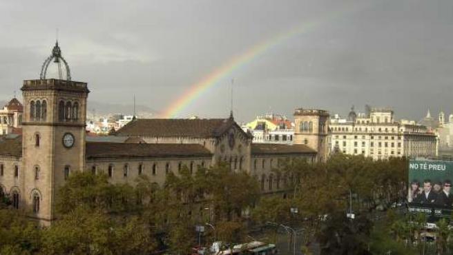 Arco iris en Barcelona.