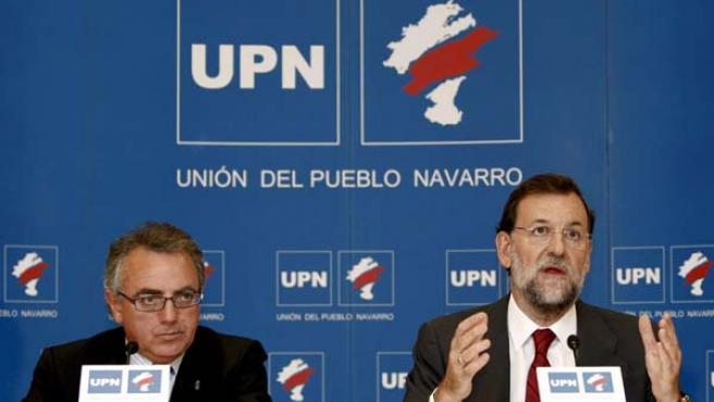 Miguel Sanz y Mariano Rajoy en una foto de archivo (EFE).