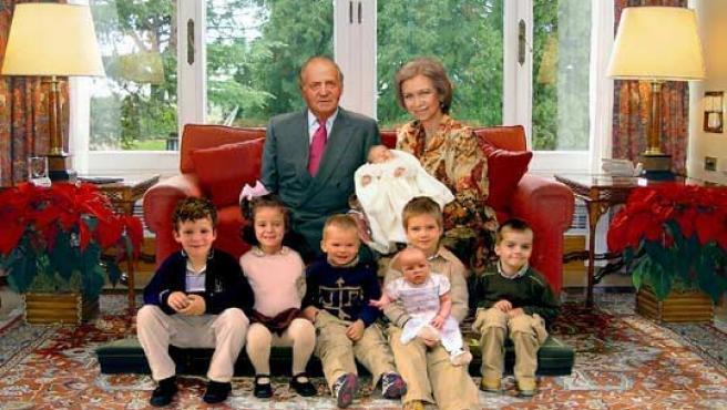 Felicitación navideña de la Casa Real de 2005. (ARCHIVO)