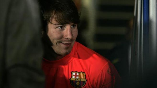 Leo Messi, tras el partido ante el Málaga (Agencias).