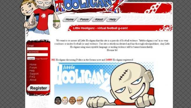 Portada de la página web Little Hooliganz.