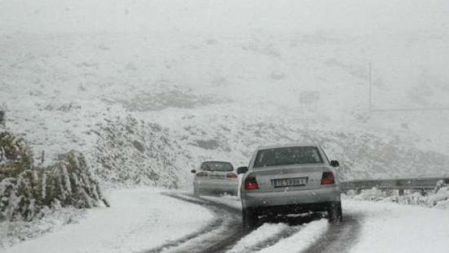 Temporal de nieve en Teruel. (ARCHIVO)