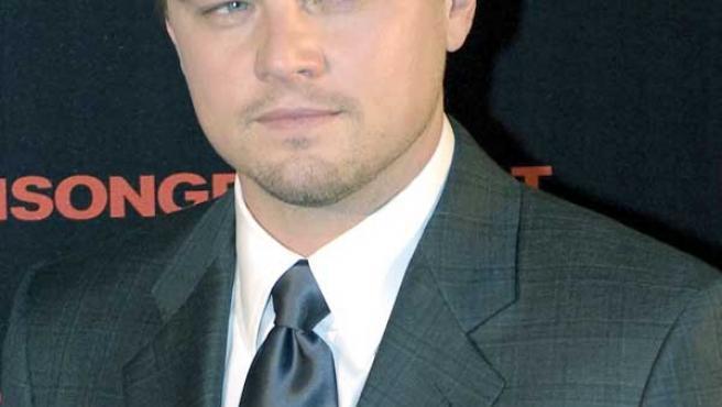 El actor Leonardo DiCaprio, presentando en París 'Red de mentiras'.