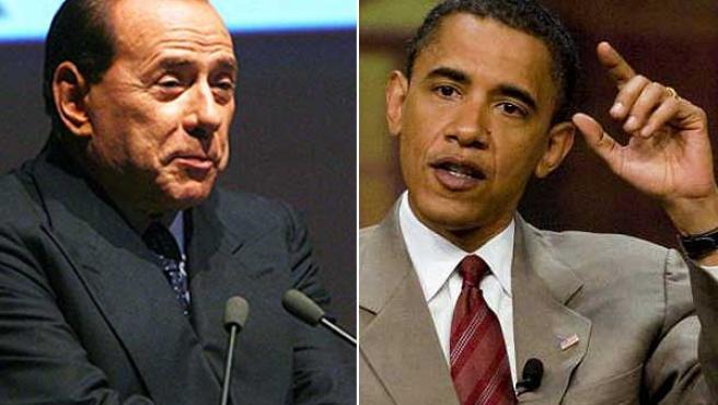 Berlusconi y Obama.