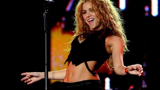 Shakira, durante un concierto el pasado verano.