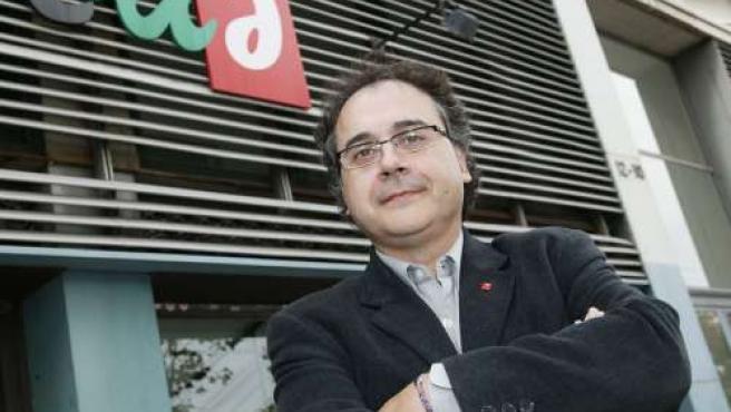 Jordi Miralles, a la seu de'EUiA (Foto: Hugo Fernández).