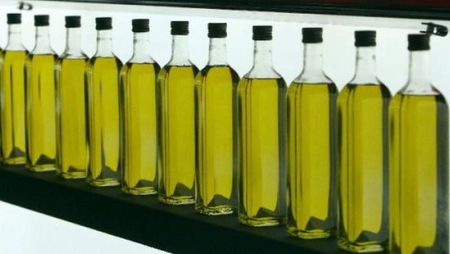 Botellas de aceite de oliva.