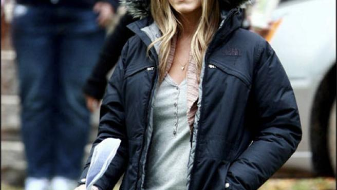 Jennifer Aniston, durante un rodaje la pasada primavera (KORPA).