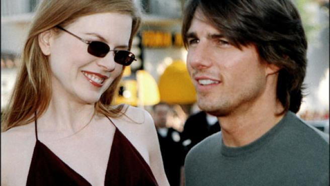 Nicole Kidman y Tom Cruise fotografiados en 2001, cuando aún eran pareja (KORPA).