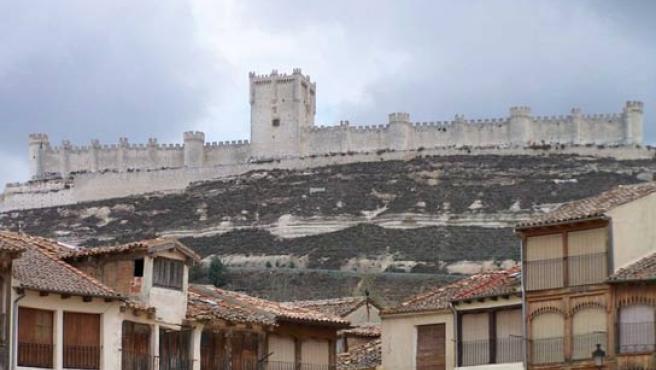 Vista del castillo de Peñafiel, en Valladolid.
