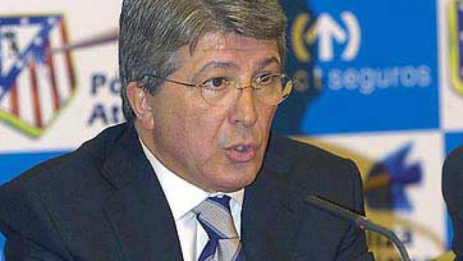 Enrique Cerezo, presidente del Atlético de Madrid, en una imagen de archivo.