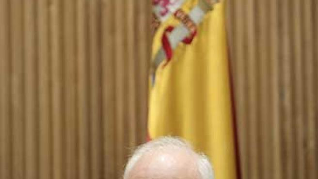 Miguel Ángel Moratinos durante una comparecencia. (EFE)