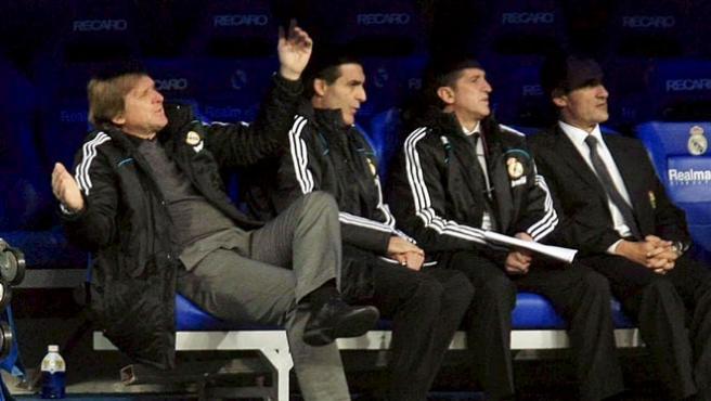 Schuster, en el partido ante el Irún (Agencias).