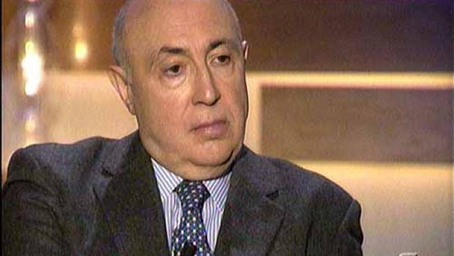 El ex director de la Guardia Civil, Luis Roldán durante la entrevista emitida en Telecinco. (FOTO: TELECINCO)