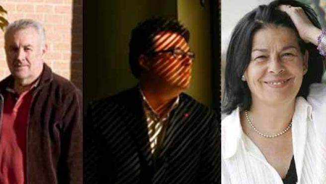 Los tres candidatos no oficiales. (PÚBLICO / ARCHIVO)