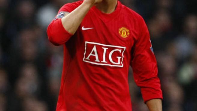 Cristiano Ronaldo, jugador del Manchester United.