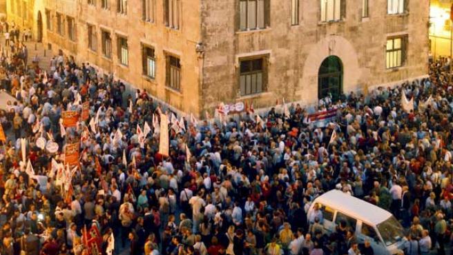 Protesta contra Educación para la Ciudadanía en inglés (AGENCIAS).