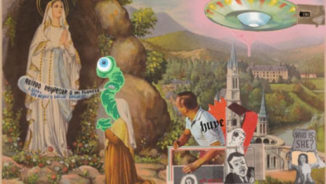 Uno de los cuadros de la serie Broza Fetén, de Julio Falagán.