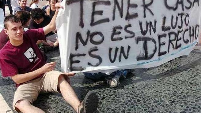 Imagen de archivo de una manifestación de jóvenes por una vivienda digna. 20MINUTOS