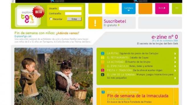 Imagen de la web de ocio infantil de Tarragona. 20MINUTOS