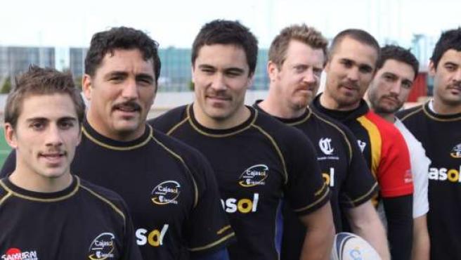 Jugadores del Cajasol Ciencias de rugby.