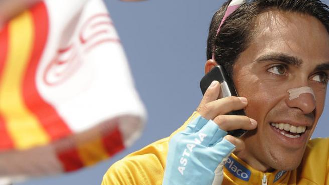 Una imagen de archivo de Alberto Contador.