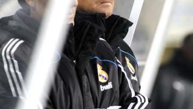 Schuster, en el banquillo del Real Madrid.