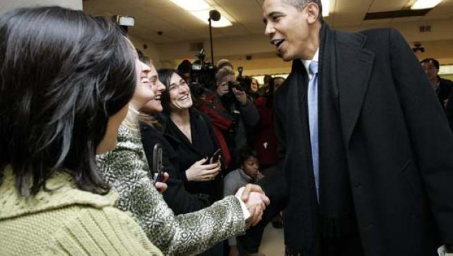 El Presidente electo de los Estados Unidos, Barack Obama, en Chicago. (EFE)