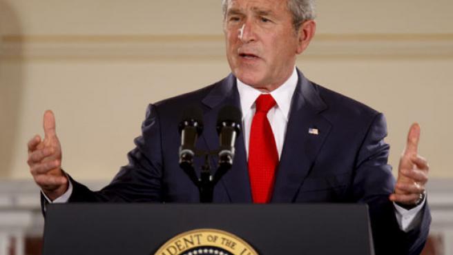 El presidente de EE UU, George W. Bush, durante el discurso sobre la política estadounidense hacia Cuba. (EFE).