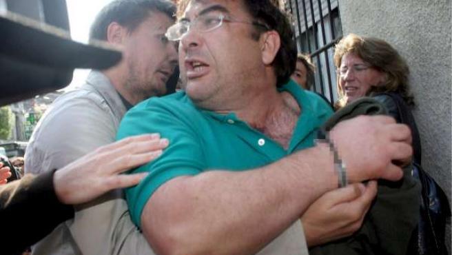 Javier López Peña, 'Thierry', tras su detención.