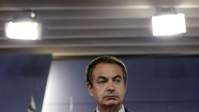 El presidente del Gobierno, en la rueda de prensa en Moncloa, donde condenó el asesinato del empresario vasco Ignacio Uría.