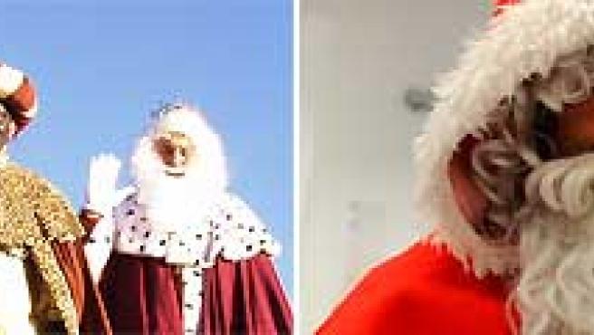 Los Reyes Magos ganan en simpatía a Papá Noel. (ARCHIVO).