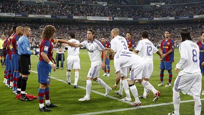 El Barça hizo el pasillo al Real Madrid en el último clásico.