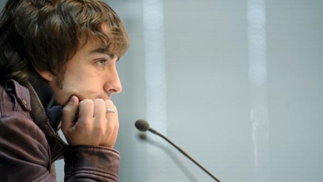 El piloto de Fórmula Uno Fernando Alonso, durante su participación como monitor en el II Curso de Conducción Segura (Efe).