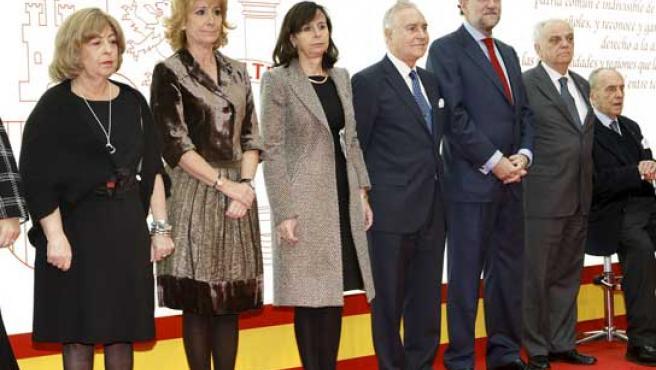 Esperanza Aguirre, en el homenaje al trigésimo aniversario de la Constitución que se celebró en Madrid el viernes. (EFE)