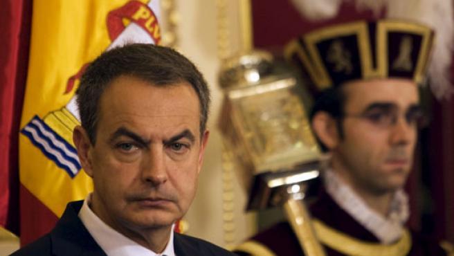 Zapatero, durante los actos de celebración del 30 aniversario de la Constitución. (EFE)