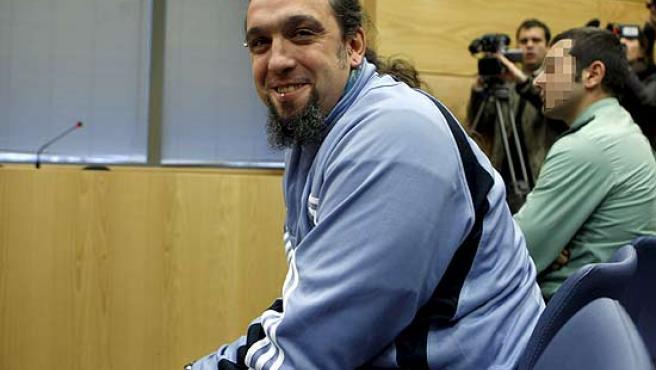 Santos Mirasierra en el juicio celebrado en Madrid.