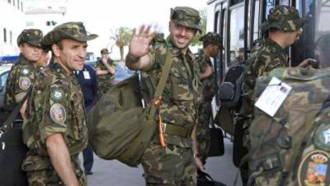 Los soldados baleares en Kosovo regresaron antes del verano.