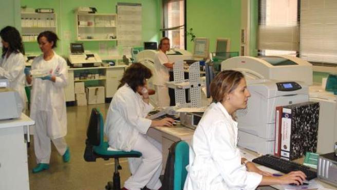 El laboratorio de Urgencia del Hospital General La Mancha Centro. (AGENCIAS)