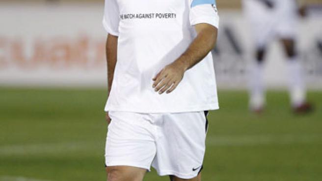Ronaldo, durante el partido benéfico para recaudar fondos contra la pobreza, celebrado en Fez (Marruecos).