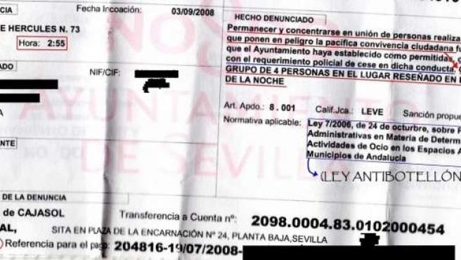 "Multa de cien euros por ""charlar"" de noche."