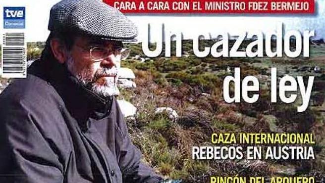 El ministro, en la portada de 'Jara y sedal' (WEB DEL Mº DE JUSTICIA)