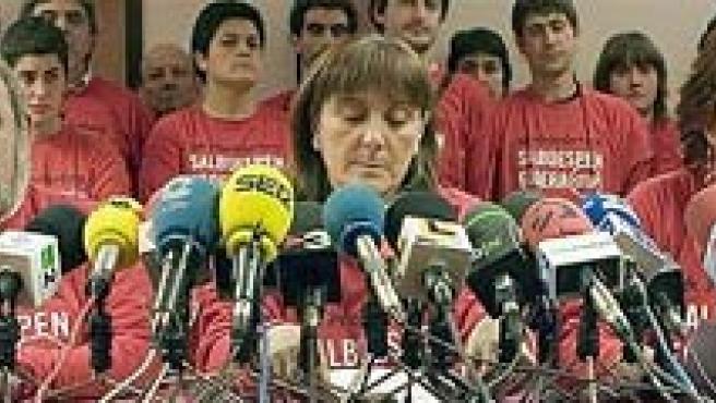 La dirigente de ANV Mariné Pueyo es concejala en Pamplona (ARCHIVO / EFE).