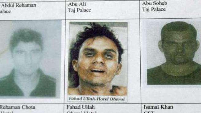 Los presuntos terroristas (AVISO: las imágenes pueden dañar la sensibilidad de los lectores).