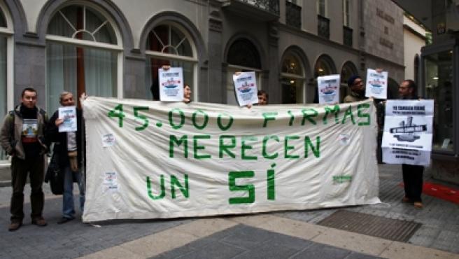 Los diputados canarios volvieron a rechazar una iniciativa ciudadana.