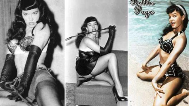 Bettie Page en unas imágenes de archivo.