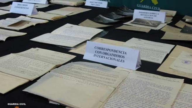 Los documentos recuperados en la 'operación León' (GUARDIA CIVIL).