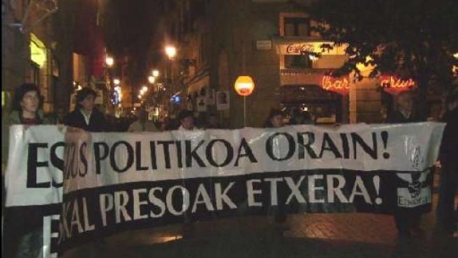 Una marcha anterior a favor del acercamiento de presos.
