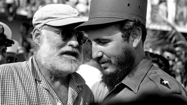 Fidel Castro y Hemingway.