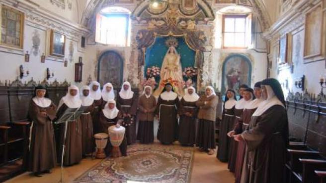 Monjas clarisas del convento de Santa María.